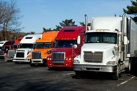 Fleet of Commercial Trucks