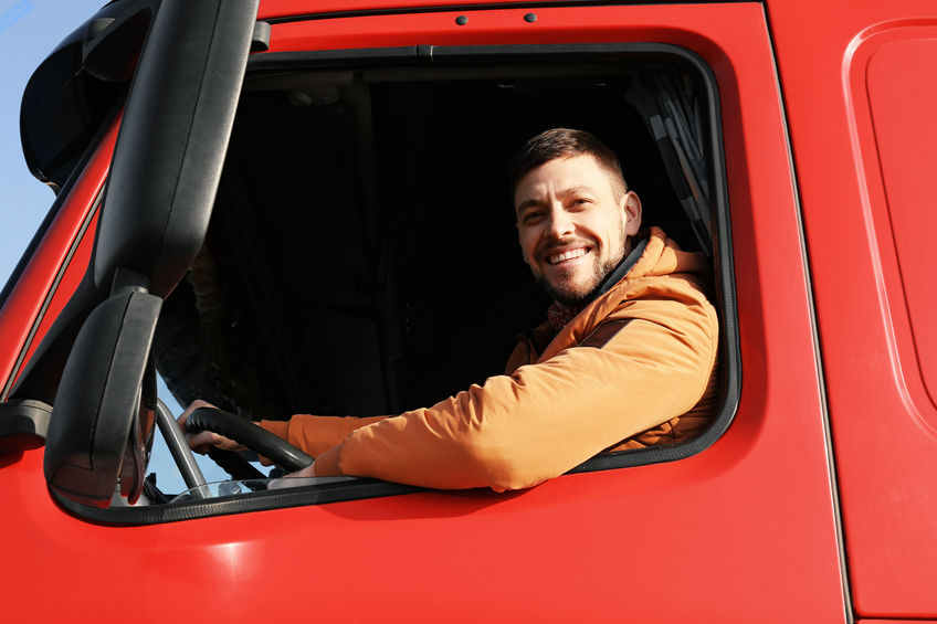 Young Male Truck Driver